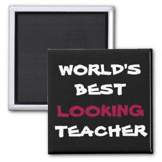 WORLD'S BEST LOOKING, TEACHER, fridge magnet