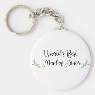 World's Best Maid of Honor Key Ring