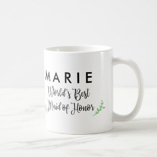 World's Best Maid of Honor Personalized Coffee Mug