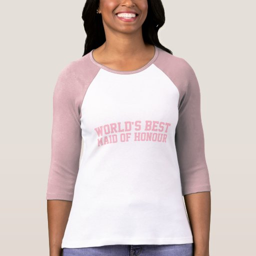 World's Best Maid of Honour UK Pink Tee Shirts