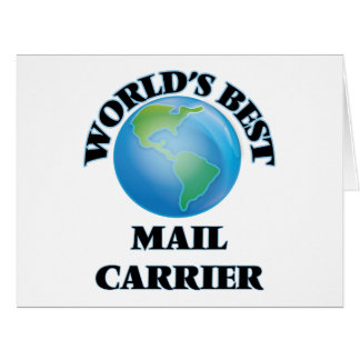 World's Best Mail Carrier Cards