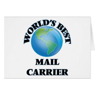 World's Best Mail Carrier Card