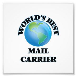 World's Best Mail Carrier Photo Print