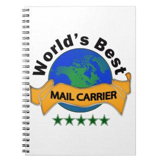 World's Best Mail Carrier Spiral Notebook