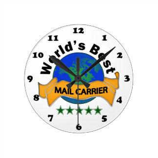 World's Best Mail Carrier Wall Clocks