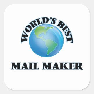 World's Best Mail Maker Square Sticker