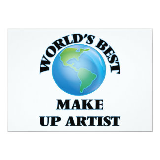 World's Best Make Up Artist Cards