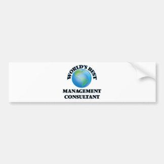 World's Best Management Consultant Bumper Sticker