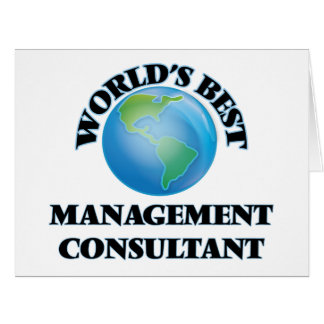 World's Best Management Consultant Cards