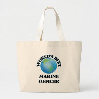 World's Best Marine Officer Tote Bag