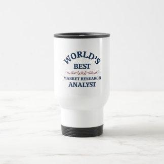 World's best Market Research Analyst Stainless Steel Travel Mug