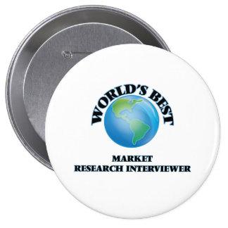 World's Best Market Research Interviewer Buttons