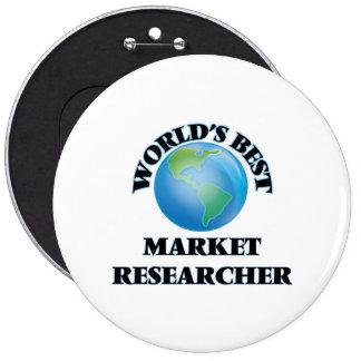 World's Best Market Researcher Pinback Buttons