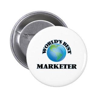 World's Best Marketer Pinback Button