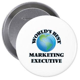 World's Best Marketing Executive Pinback Button