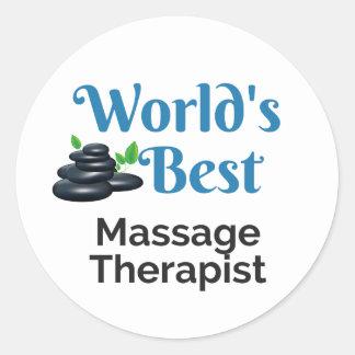 World's Best massage therapist Classic Round Sticker