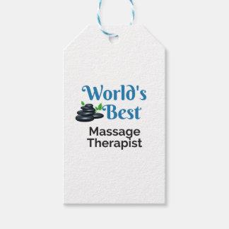World's Best massage therapist Gift Tags