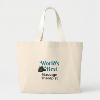 World's Best massage therapist Large Tote Bag
