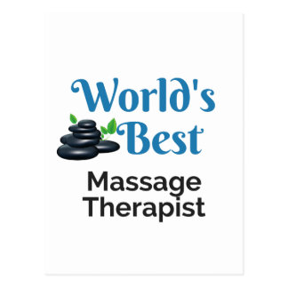 World's Best massage therapist Postcard