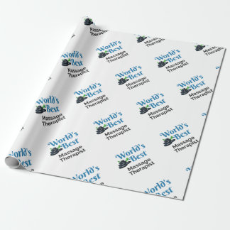 World's Best massage therapist Wrapping Paper