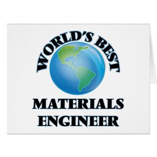 World's Best Materials Engineer Cards