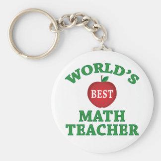 World's Best Math Teacher Key Chains