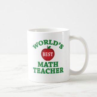 World's Best Math Teacher Classic White Coffee Mug