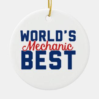 World's Best Mechanic Ceramic Ornament