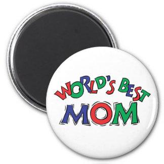 World's Best Mom 6 Cm Round Magnet