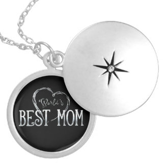 World's Best Mom   Adorable Gift Silver Plated Necklace