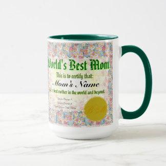 World's Best Mom Certificate Mug