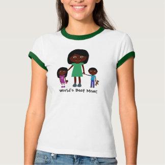 World's Best Mom Cute Ethnic Cartoon Characters T-shirts
