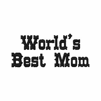 World's Best Mom Embroidered Ladies Polo
