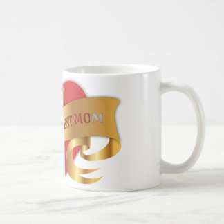 World's Best Mom Gold Ribbon Mug