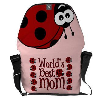 World's Best Mom Ladybugs Commuter Bag