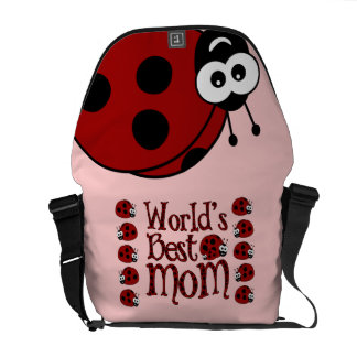World's Best Mom Ladybugs Courier Bags