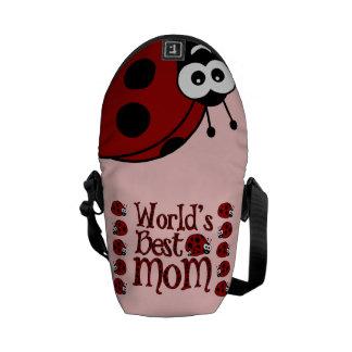 World's Best Mom Ladybugs Messenger Bags