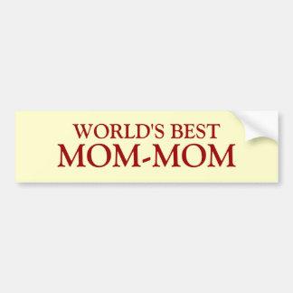 WORLD'S BEST, MOM-MOM BUMPER STICKER