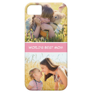 World's Best Mom Mothers Day Gift Custom Photos iPhone 5 Cases