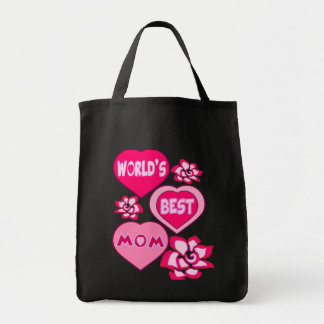 WORLD'S BEST MOM,MOTHERS DAY,MOTHRES BIRTHDAY GIFT GROCERY TOTE BAG