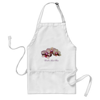 World's Best Mom Orchid Trio Flower Apron