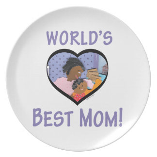 World's Best Mom Plate
