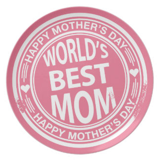 World's Best mom rubber stamp effect Plate