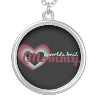 Worlds Best Mommy Silver Plated Necklace