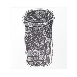 'World's Best Morning Cup' Abstract Notepad