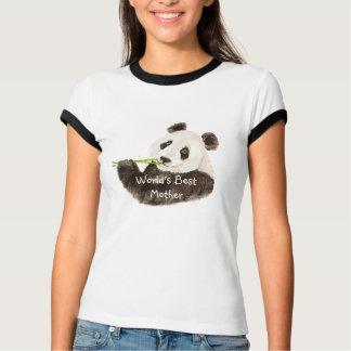 World's Best Mother Cute Pandas Watercolor Animal T-Shirt