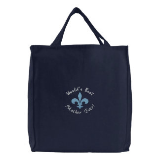 World's Best Mother Ever Embroidered Tote Bag
