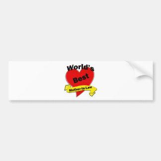 World's Best Mother-In-Law Bumper Sticker