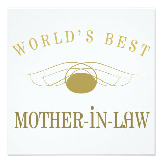 World's Best Mother-In-Law Card
