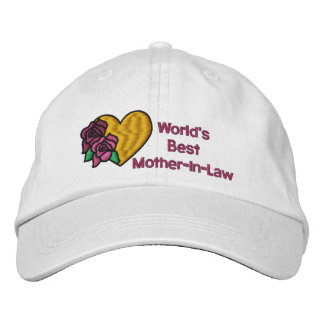 Worlds Best Mother-In-Law Embroidered Hat